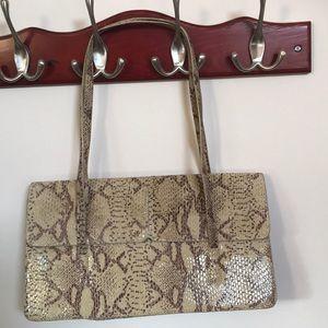Snakeskin print leather handbag by Alfani NWOT